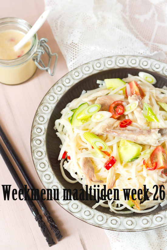 Weekmenu maaltijden week 26