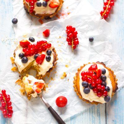 Recept zomerse amandel taartjes zelf maken