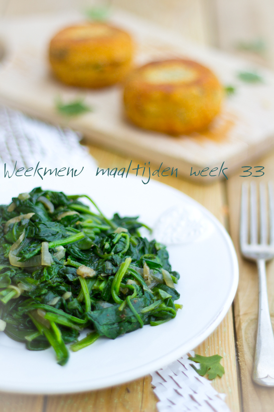 Weekmenu maaltijden week 33