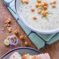 Romige prei mosterd soep recept