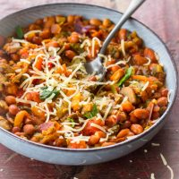 Vegetarische chili sin carne recept