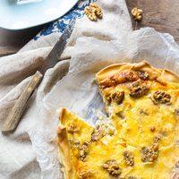 Recept hartige witloftaart met brie en walnoten